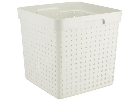 Regálový Košík Seoul - Xl - biela, Konvenčný, plast (29,6/29,6/29,6cm)