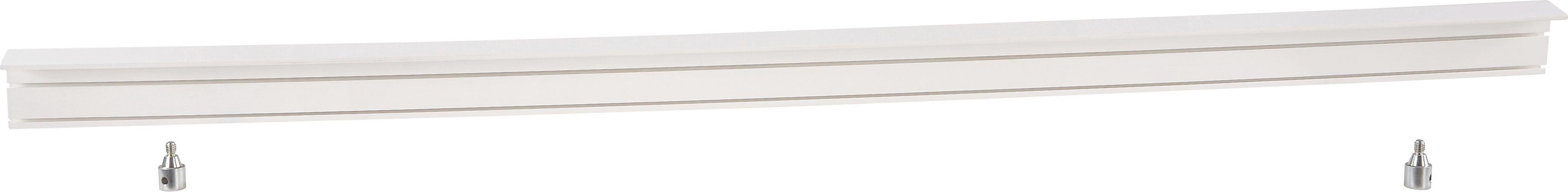 Függönysín Előlappal - fehér, konvencionális, műanyag (250/5/7.5cm)