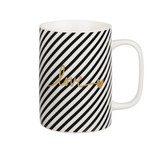 Hrnek Na Kávu Gloria - bílá/černá, Moderní, keramika (7,9/10,8cm) - Mömax modern living