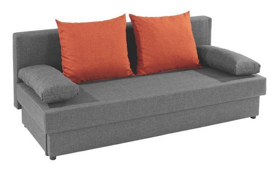 Schlafsofa Neo B: 190cm - Dunkelgrau/Schwarz, MODERN, Textil (190/75/82cm)