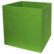 Faltbox Cubi - Grün, MODERN, Holzwerkstoff/Textil