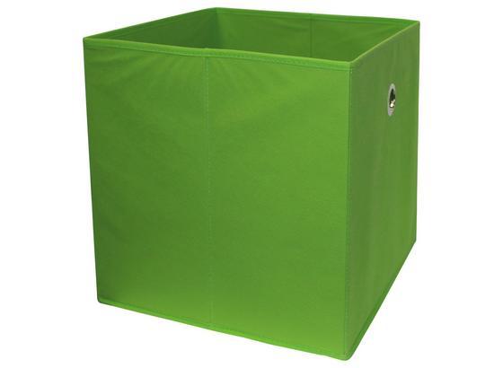 Skládací Krabice Cubi - zelená, Moderní, kompozitní dřevo/textil