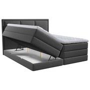 Boxspringbett mit Topper & Bettkasten 140x200 Swing - Anthrazit, Design, Holzwerkstoff/Textil (140/200cm) - Xora