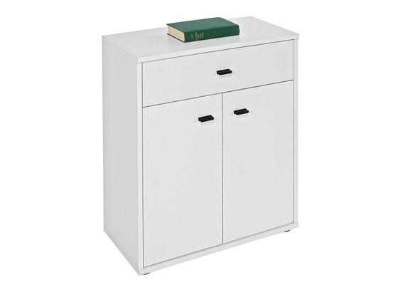 Kommode Boni B:60cm Perlweiß Dekor - Weiß, MODERN, Holzwerkstoff (60/70/30cm)