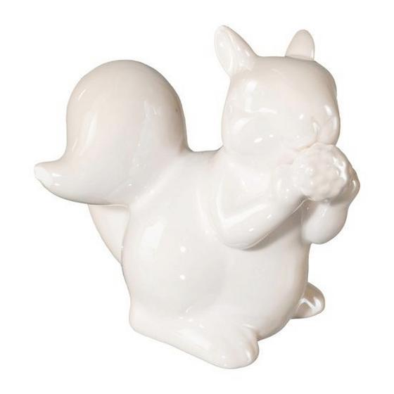 Dekoeichhörnchen H:12,5 cm - Creme, MODERN, Keramik (13/10/12,5cm)