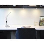 Led Tischlampe Tanna Weiß mit Touchdimmer + Kalenderfunktion - Chromfarben/Weiß, Basics, Kunststoff (31/14/59,5cm) - Globo