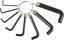 Innensechskantschlüsselsatz 8-teilig - Silberfarben/Schwarz, KONVENTIONELL, Metall (1cm)