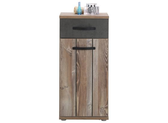 Spodná Skrinka Catherine - farby borovice/tmavosivá, Moderný, kov/kompozitné drevo (41/87/35cm) - Mömax modern living