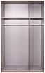 Kleiderschrank New York A - Eichefarben/Weiß, KONVENTIONELL, Holz/Holzwerkstoff (135/236/58cm) - Ombra