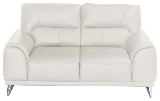 Zweisitzer-Sofa Frisco - Chromfarben/Weiß, MODERN, Textil (166/92/96cm)