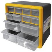 Werkstattschrank mit 12 Laden - Gelb/Schwarz, MODERN, Kunststoff (26/23/16cm)