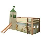 Spielbett Toby R 90x200 cm Safari - Multicolor/Naturfarben, Natur, Holz (90/200cm) - Carryhome