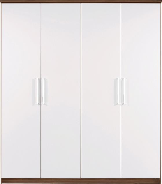 Kleiderschrank Wien 181cm - Eichefarben/Weiß, KONVENTIONELL, Holzwerkstoff (181/212/56cm)