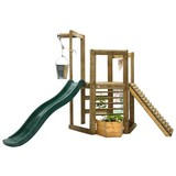 Spielturm Plum Discovery - Ahornfarben/Grün, MODERN, Holz/Kunststoff (270/240/193cm)