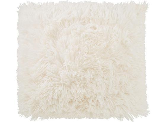 Polštář Ozdobný Fluffy - bílá, textil (45/45cm) - Mömax modern living