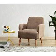 Relaxsessel Stockholm - Naturfarben/Braun, LIFESTYLE, Holz/Textil (62/79/77cm) - Ombra