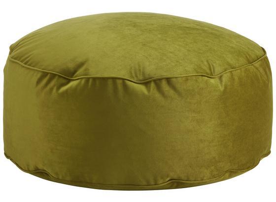 Nízký Kulatý Taburet Tutti - limetková, Lifestyle, textil (80/30cm) - Modern Living