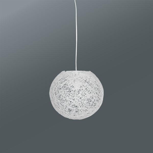 Závesná Lampa Sophia - biela, Štýlový, umelá hmota/ďalšie prírodné materiály (50cm) - MÖMAX modern living