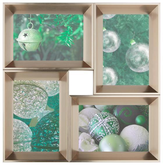 Rám Na Obrazy Sina - čiré/šampaňská, Lifestyle, dřevěný materiál/umělá hmota (31,7/31,7/2,6cm) - MÖMAX modern living