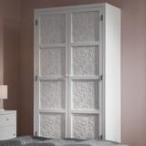 Šatná skriňa Valentina - biela/farby pínie, Moderný, drevený materiál/drevo (95/190/48cm) - Modern Living