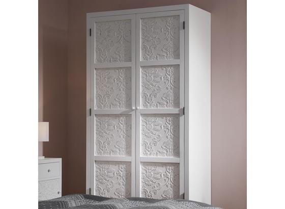Šatní Skříň Valentina - bílá/barvy pinie, Moderní, dřevo (95/190/48cm) - Modern Living