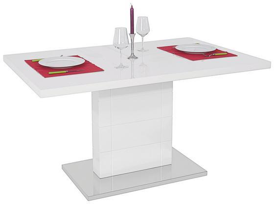 Jedálenský Stôl Otto 140 - biela/farby nerezovej ocele, Moderný, kov/drevený materiál (140/76/90cm)