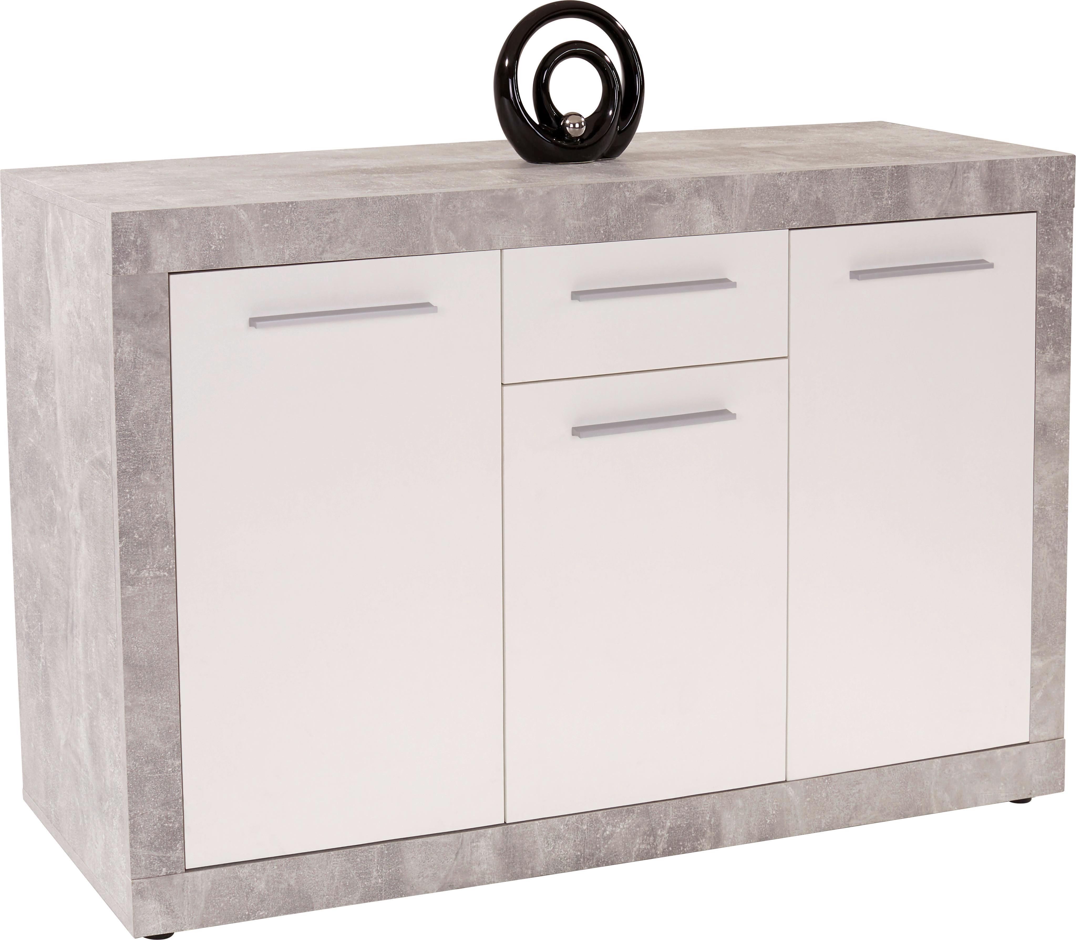 Sideboard Strada - Weiß, KONVENTIONELL, Holzwerkstoff (149/86/41cm)