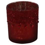 Teelichtglas Ø 7,4 cm - Rot, MODERN, Glas (7,4/8cm)