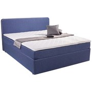 Polsterbett Carrol 140x200 Im Trendigen Boxspringlook Blau - Blau, KONVENTIONELL, Holz/Textil (140/200cm)