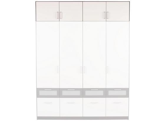 Nadstavec Na Skriňu Nagold-extra - sivá/biela, Konvenčný, kompozitné drevo (181/39/54cm)