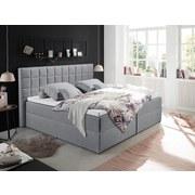 Polsterbett mit Topper Alaska 180x200 cm Grau - Schwarz/Grau, Basics, Holzwerkstoff/Textil (180/200cm) - MID.YOU