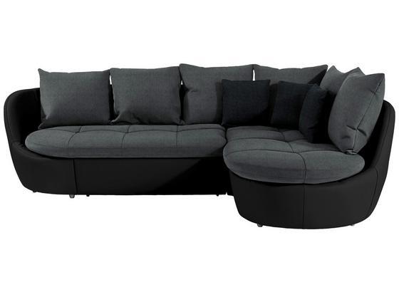 Sedací Souprava S Funkci Lůžka Florida - šedá/černá, Moderní, textil (280/192cm) - Luca Bessoni