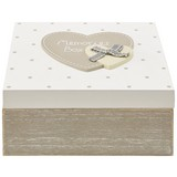 Dekobox Lots Of Love - Weiß/Grau, LIFESTYLE, Holz (16,5/16,5/8cm) - Ombra