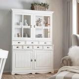 Kredenz Claudia - biela, Romantický / Vidiecky, kov/drevo (140/200/44,5cm) - Premium Living