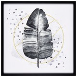 Bild Aleksandra - Goldfarben/Schwarz, MODERN, Holzwerkstoff/Kunststoff (50/50/2,5cm) - Luca Bessoni