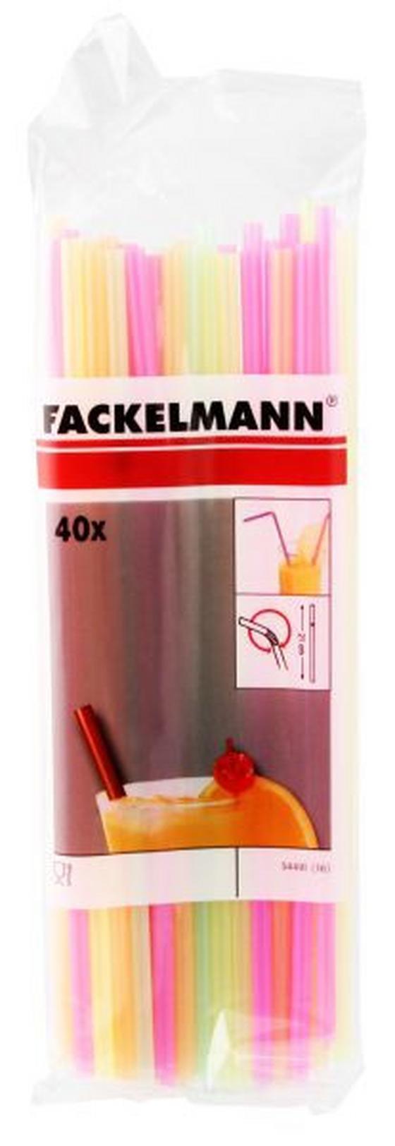 Szívószál 40db/csomag - pink/sárga, konvencionális, műanyag (21cm)