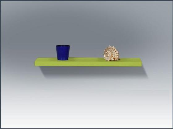 Nástenná Polica 100 Cm - svetlozelená, Moderný, drevený materiál (100/4,4/24cm)