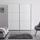 Schwebetürenschrank 188 cm Includo, Weiß - Weiß, MODERN, Glas/Holzwerkstoff (188/222/68cm)