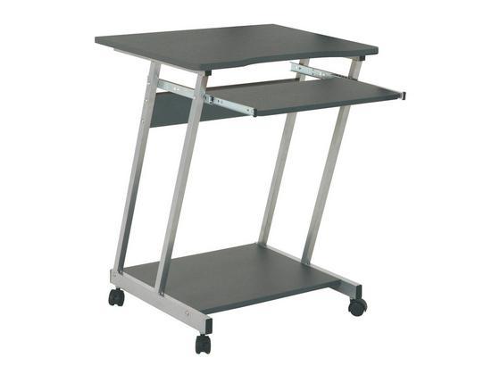 Písací Stôl Print - antracitová/farby hliníka, Moderný, kov/drevo (60/75/48cm) - Sonne