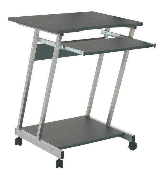 Számítógép Asztal Print - alu színű/antracit, modern, fa/fém (60/75/48cm) - SONNE