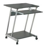 Számítógép Asztal Print - Antracit/Alu, modern, Fa/Fém (60/75/48cm) - SONNE