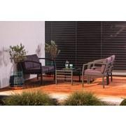 Loungegarnitur Bellaria 4-teilig inkl. Kissen - Flieder/Schwarz, MODERN, Glas/Textil