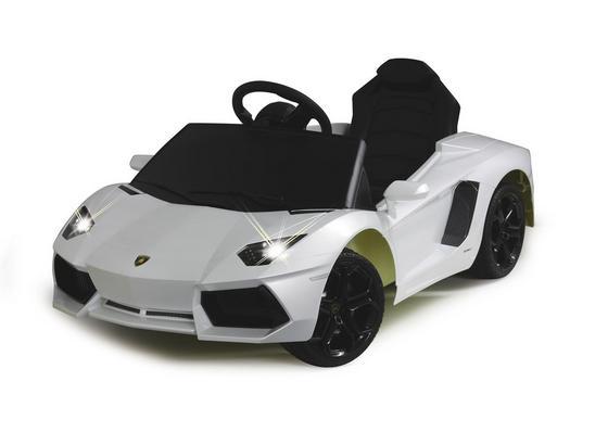 Kinderauto Ride-On Lamborghini Aventador Weiß - Weiß, Basics, Kunststoff (112,2/63,5/43cm)