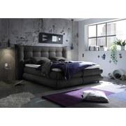 Boxspringbett Milford 2 ca. 180x200 cm - Graphitfarben, KONVENTIONELL, Holzwerkstoff/Textil (180/200cm) - Carryhome