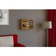 Hängevitrine Mandosa M B: 60 cm Buche Dekor - Transparent/Buchefarben, KONVENTIONELL, Glas/Holzwerkstoff (60/40/10cm)