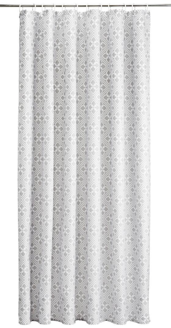 Sprchový Závěs Spain - bílá/světle šedá, Lifestyle, textil (180/200cm) - Mömax modern living