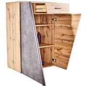 Komoda Venedig - šedá/barvy dubu, Moderní, kompozitní dřevo (80/110/40cm)