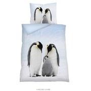 Bettwäsche Tiermotiv Penguin 140/200 cm - Multicolor, Basics, Textil (140/200cm)