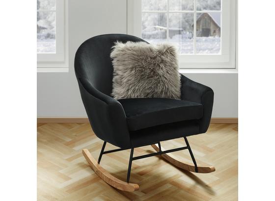 Hojdacie Kreslo Sophie - čierna, Moderný, kov/drevo (74/87/91,5cm) - Mömax modern living