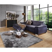 Wohnlandschaft L-form Verona 180x265cm - Chromfarben/Dunkelgrau, LIFESTYLE, Holz/Kunststoff (180/265cm) - Ombra